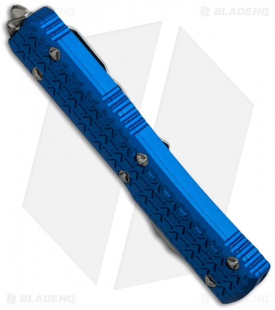 "Microtech Ultratech D/E OTF Automatic Knife Tri-Grip Blue (3.4"" Satin)"