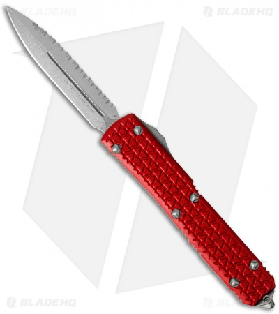 "Microtech Ultratech D/E OTF Automatic Knife Tri-Grip Red (3.4"" SW Full Serr)"