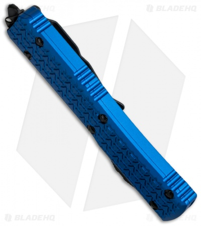 "Microtech Ultratech Tanto OTF Automatic Knife Tri-Grip Blue (3.4"" Black)"