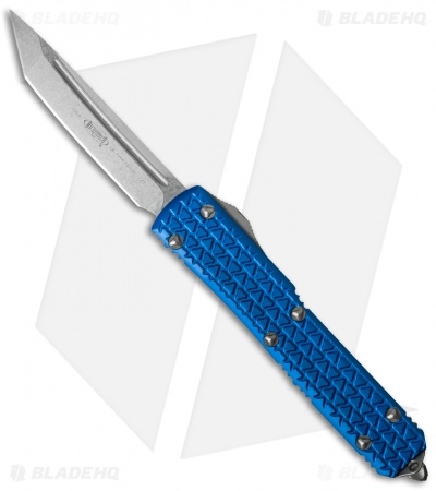 "Microtech Ultratech Tanto OTF Automatic Knife Tri-Grip Blue (3.4"" Stonewash)"
