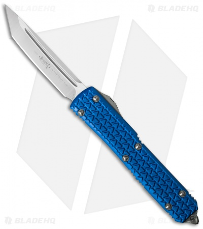 "Microtech Ultratech Tanto OTF Automatic Knife Tri-Grip Blue (3.4"" Satin)"