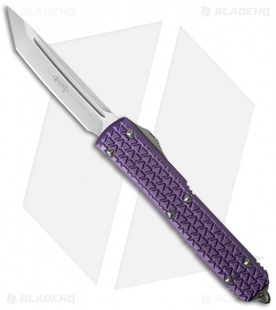 "Microtech Ultratech Tanto OTF Automatic Knife Tri-Grip Purple (3.4"" Satin)"