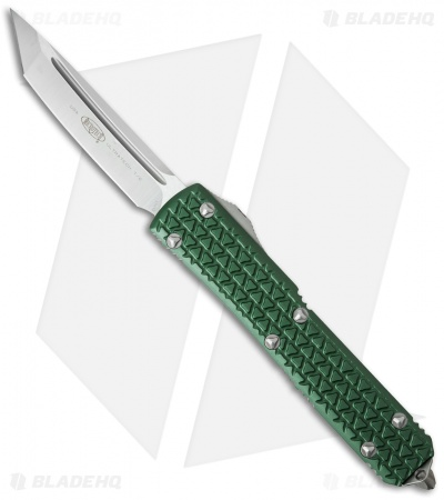 "Microtech Ultratech Tanto OTF Automatic Knife Tri-Grip Green (3.4"" Satin)"