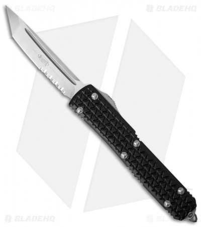 "Microtech Ultratech Tanto OTF Automatic Knife Tri-Grip (3.4"" Satin Serr) 123-5"