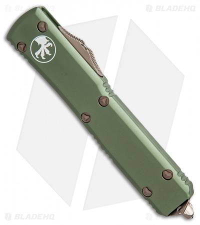 "Microtech Ultratech S/E OTF Automatic Knife OD Green CC (3.4"" Bronze) 121-13OD"