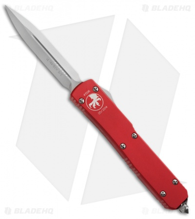 "Microtech Ultratech D/E OTF Automatic Knife Red (3.4"" Bead Blast) 122-7RD"