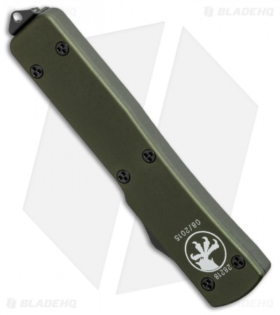 "Microtech UTX-70 D/E OTF Automatic Knife Green (2.4"" Two-Tone) 147-1OD"