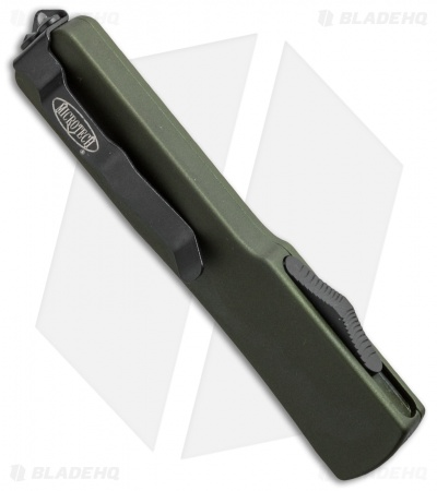 "Microtech UTX-70 D/E OTF Automatic Knife OD Green CC (2.4"" Black)"