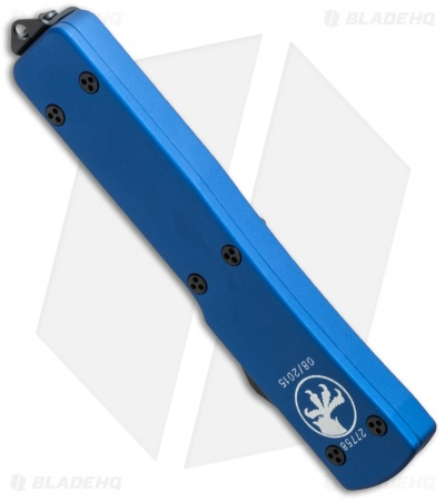 "Microtech UTX-70 D/E OTF Automatic Knife Blue (2.4"" Black Serr) 147-2BL"