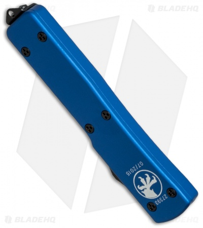 "Microtech UTX-70 Tanto OTF Automatic Knife Blue (2.4"" Black Full Serr) 149-3BL"