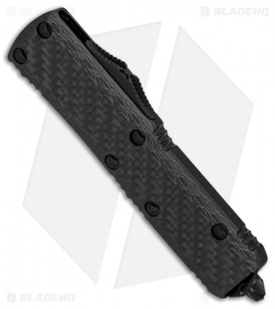 "Microtech UTX-85 S/E OTF Automatic Knife Carbon Fiber (3.1"" Black) 231-1CFT"