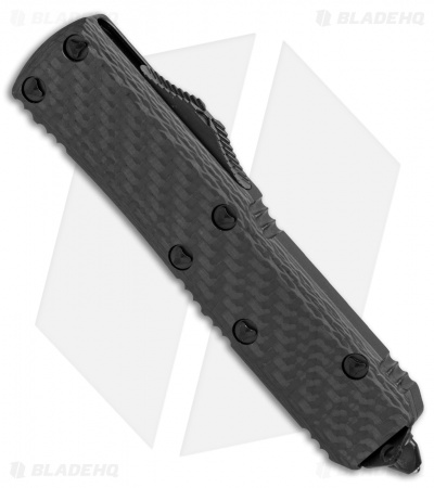 "Microtech UTX-85 S/E OTF Automatic Knife Carbon Fiber (3.125"" Black) 231-1CF"