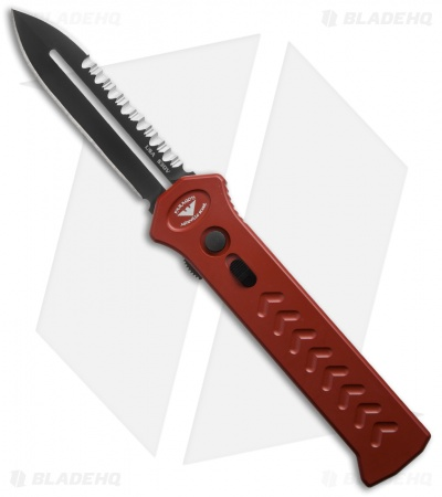 "Asheville Steel Paragon PARA-XD Dagger OTF Automatic Knife Red (3.5"" Black Serr)"