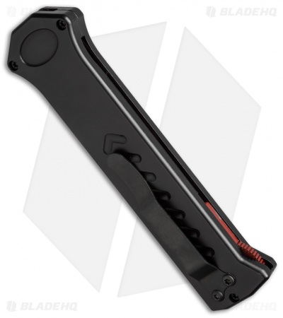 "Asheville Steel Paragon PARA-XD Black OTF Automatic Knife (3.625"" Red Serr)"