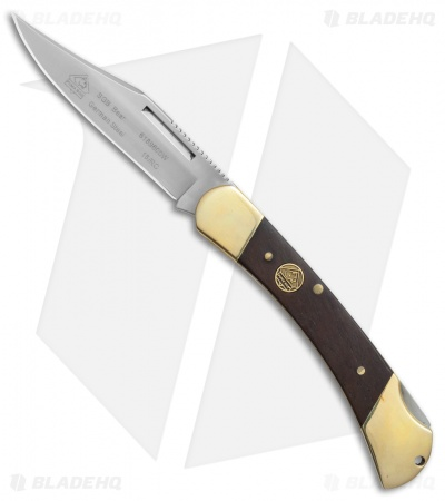 "Puma SGB Bear Lockback Pocket Knife 3.75"" Jacaranda Wood (6169600W)"