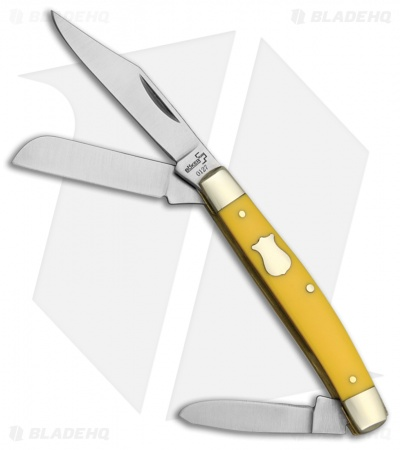 "Boker Plus Mini Stockman Pocket Knife 3.25"" Yellow Synthetic 01BO234Y"