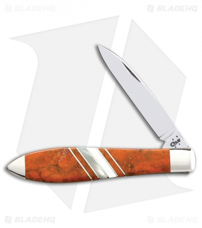 "Case Teardrop 3.5"" Orange Coral/Mother of Pearl (TBEX1028 SS) 11107"