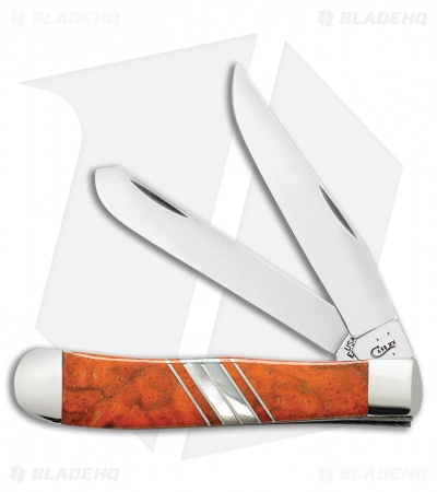 "Case Trapper Knife 4.125"" Orange Coral/Mother of Pearl (EX254 SS) 11104"