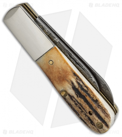 "Case Barlow Damascus Knife 3.375"" Stag (52009 DAM) 009"