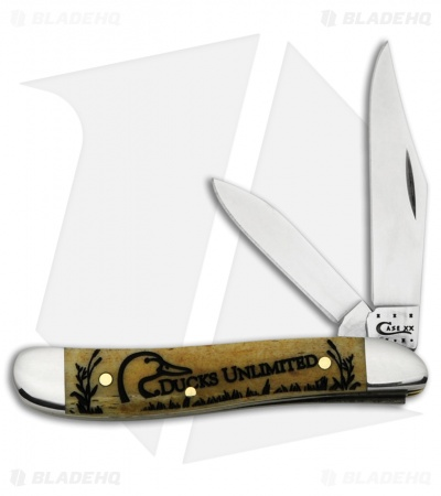 "Case Ducks Unlimited Peanut Knife 2.875"" Brown Bone (6220 SS) 7297"
