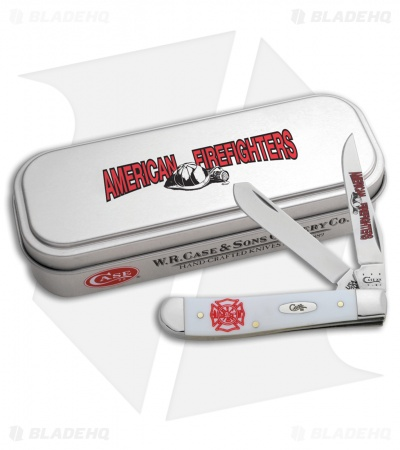 "Case Firefighter Mini Trapper 3.5"" White Synthetic (4207 SS) 05468"