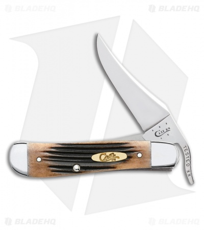 "Case Russlock Knife 4.25"" Cherry Bone (61953L SS) 57616"