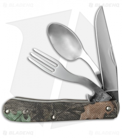 "Case Hobo Knife 4.125"" Camo Caliber Zytel + Spoon & Fork (LT354HB SS) 18339"