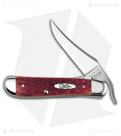 "Case RussLock Knife 4.25"" Dark Red Bone (61953L CV)06994"
