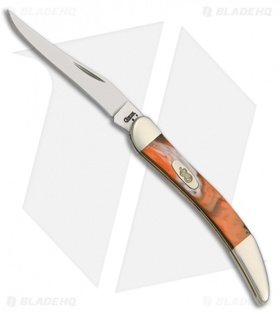 "Case Small Texas Toothpick Knife 3.00"" Orange Corelon 910096OF"
