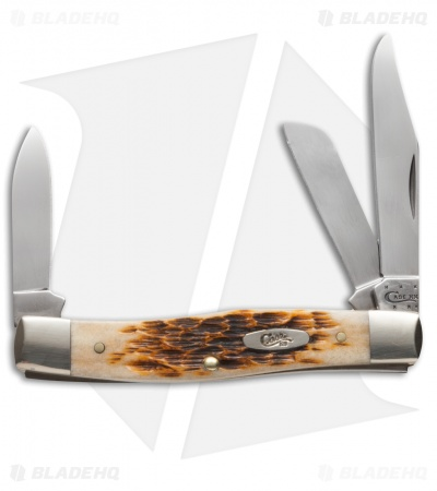 "Case Medium Stockman Knife 3.625"" Amber Bone (63032 CV) 00079"