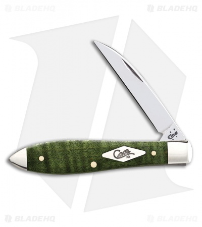 "Case Teardrop Knife 3.5"" Green Curly Maple (TB71028W SS) 65563"