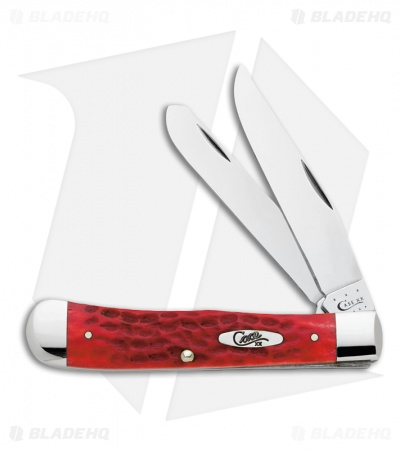 "Case Trapper Knife 4.25"" Dark Red Bone (6254 CV) 6984"
