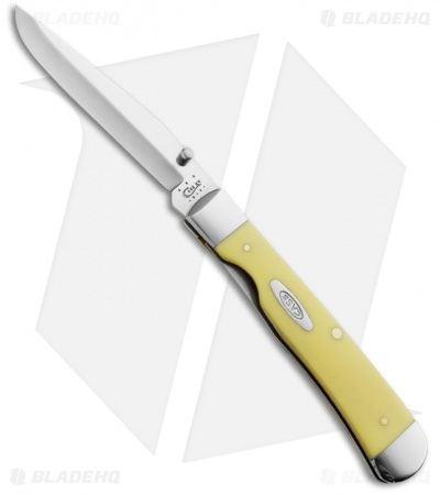 "Case TrapperLock Knife 4.125"" Yellow Synthetic (3154LC CV) 30111"