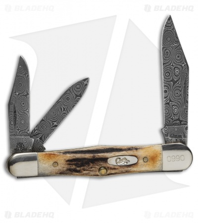 "Case Whittler Damascus Knife 3.5"" Stag (5383WH DAM) 83WH"