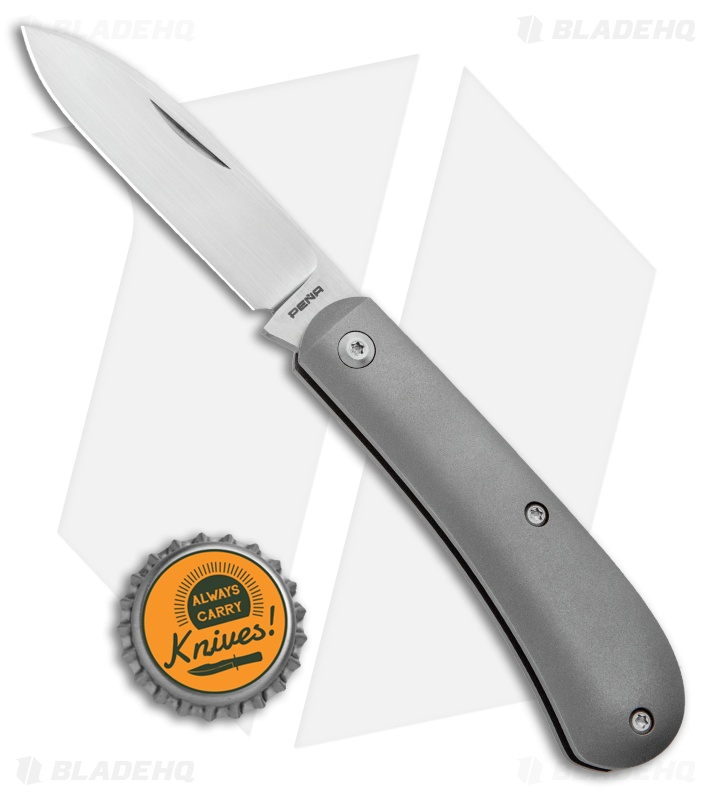 Pena Knives Custom Zulu Slip Joint Knife Titanium (2.75\