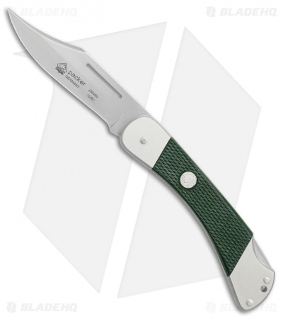 "Puma Packer Pocket Knife 4.375"" Green Synthetic (230465)"