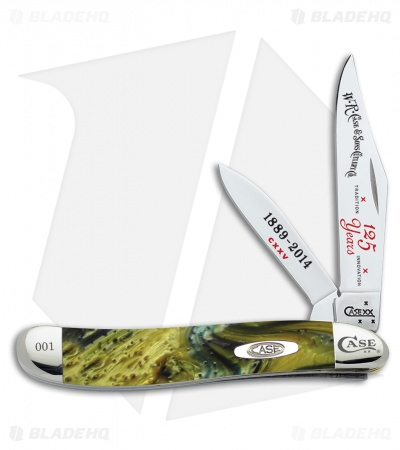"Case 125th Anniversary Peanut Knife 2.875"" Mossy Willow Green Corelon 9220125MM"