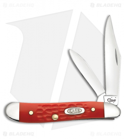 "Case Peanut Pocket Knife 2.875"" Fire Engine Red Synthetic (6220 SS) 56733"