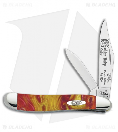 "Case Premier Edition Peanut Knife 2.875"" Golden Ruby Corelon 9220GR"