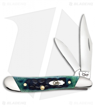 "Case Slanted Bolster Peanut Knife 2.875"" Hunter Green Bone (6220 SS) 70490"