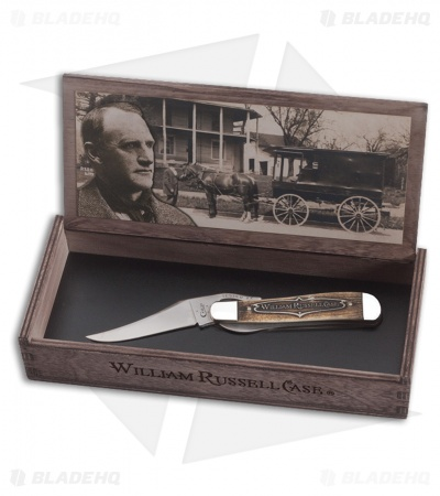 "Case William Russell Case Russlock Liner Lock Knife 4.25"" Natural Bone 06510"
