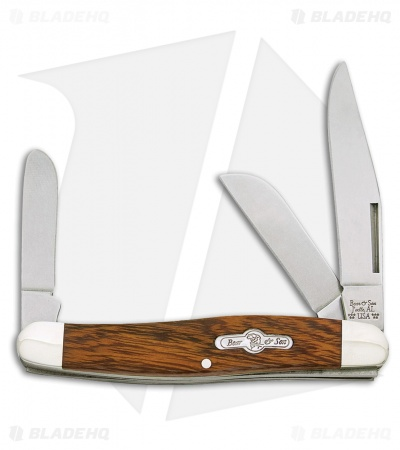 "Bear & Son Kodiak Large Stockman Pocket Knife Desert Ironwood (2.875"" Satin)"