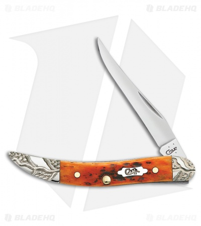 "Case Texas Toothpick Knife 3"" Jigged Autumn Bone (610096 SS) 53227"