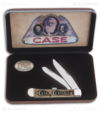 "Case Classics Trapper Pocket Knife 4.125"" Smooth Natural Bone (6254 SS) 16490"
