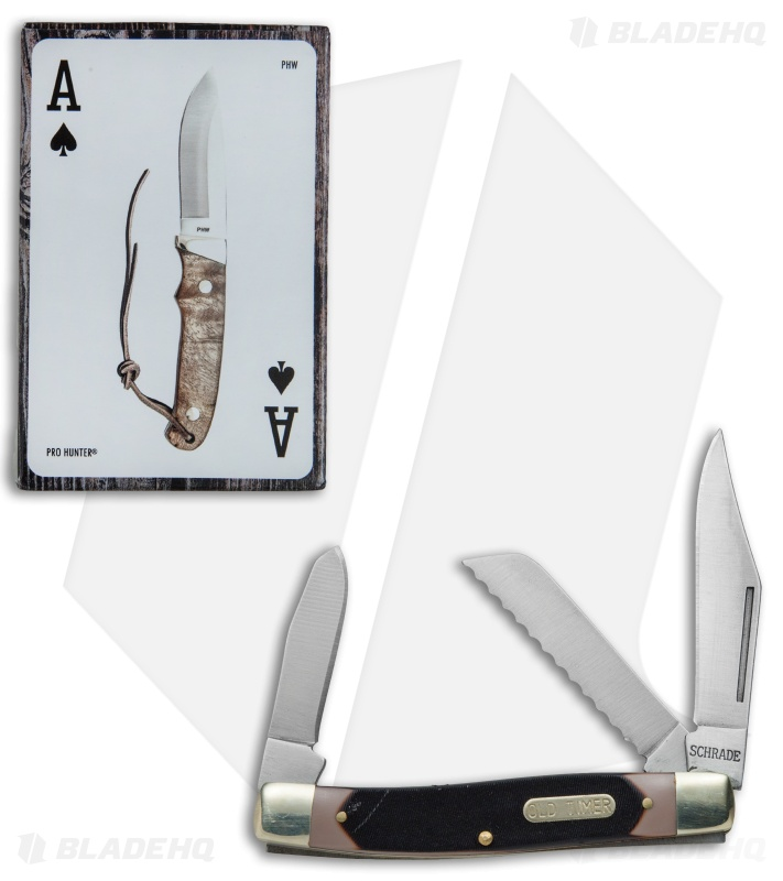 Schrade Old Timer Blazer Pocket Knife & Card Combo Set