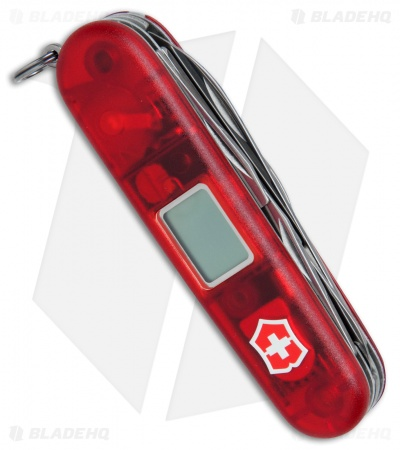 Victorinox Altimeter Swiss Army Knife Multi-Tool Ruby Translucent