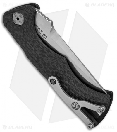 "Brian Tighe & Friends Small Tighe Fighter Automatic Knife Carbon Fiber (3"" SW)"