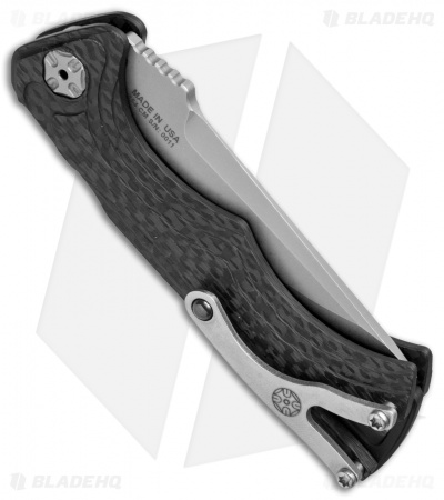 "Brian Tighe & Friends Small Tighe Fighter Tanto Automatic Knife CF(3"" BB/SW)"