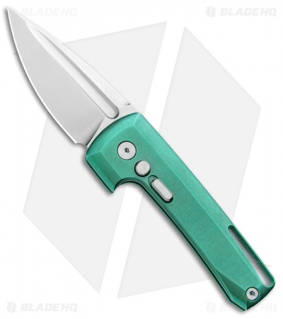 "D Rocket Design Harlock Automatic Knife Green Titanium (2"" Satin)"
