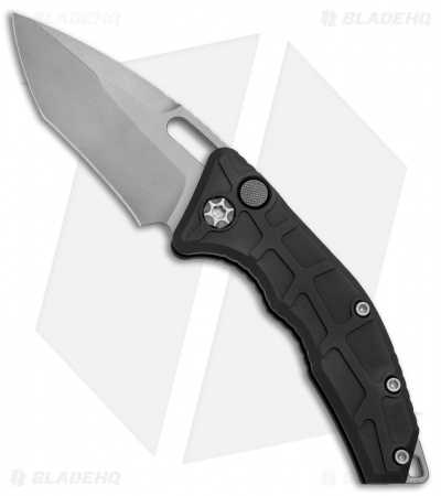 "Heretic Knives Martyr Recurve Automatic Knife Black Aluminum (3"" Bead Blast)"